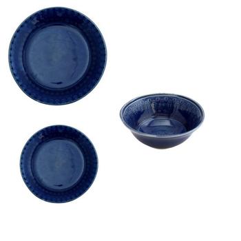 Ceramic Dinnerware - Dark Blue Design