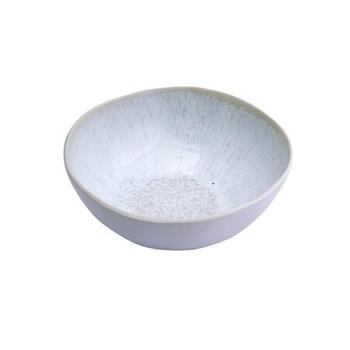 Ceramic Bowl - Beige & White Patterned