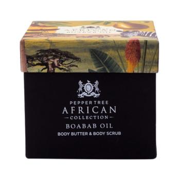 Baobab Body Butter & Body Scrub Gift Set