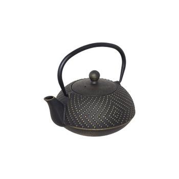 Quin Black Cast Iron Teapot 900ml