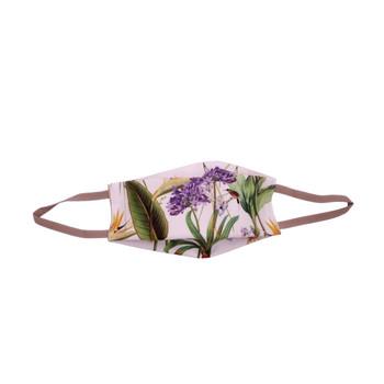 Purple Flower Green Leaf Mask