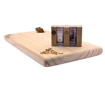 Wooden Cutting Board Engraved - Geometric Bull