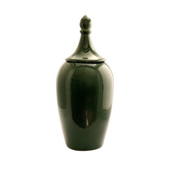 Emerald Green Ginger Jar (19x19x44cm)