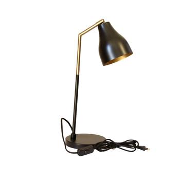 Gold Brushed & Matt Black Desk Lamp (45cm)