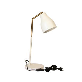 Gold Brushed & Matt White Desk Lamp (45cm)