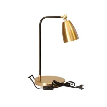 Brushed Gold and Black Powder Coated Desk Lamp (46cm)
