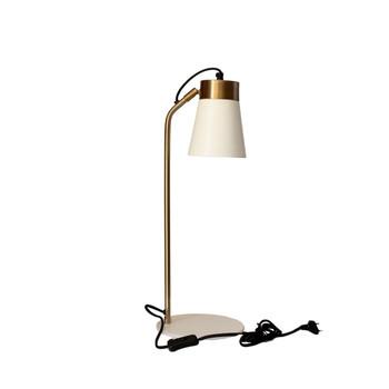 Gold Brushed & Matt White Desk Lamp (56cm)