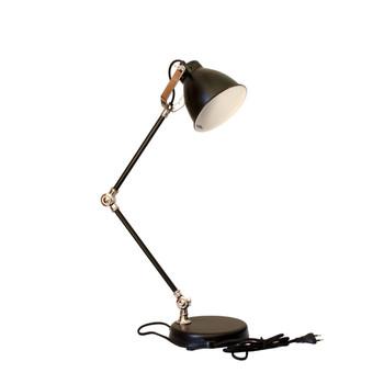 Matt Black Powder Coating with Nickle Plated Desk Lamp (65cm)
