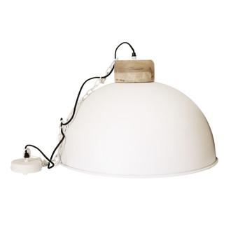 White Iron Textured Light with Wood finish (60cm)