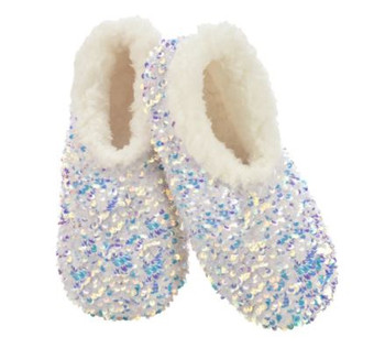 Womans White Bling Snoozies