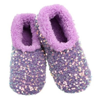 Womans Purple Bling Snoozies