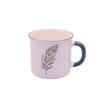 Ceramic Mug - 400ml - Single Leaf: Smile