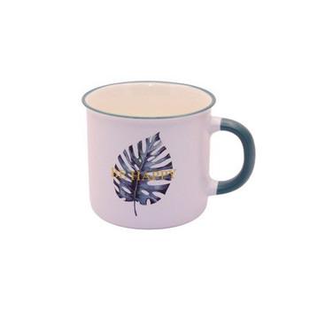 Ceramic Mug - 400ml - Single Leaf: Be Happy