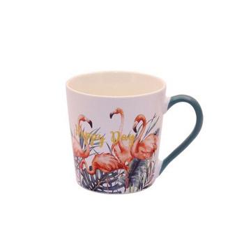 Ceramic Mug - 400ml - Flamingo's: Happy Day