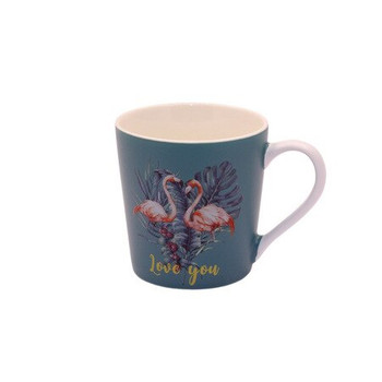 Ceramic Mug - 400ml - Flamingo's: Love You