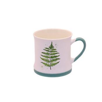 Ceramic Mug - 340ml - Fern Leaf