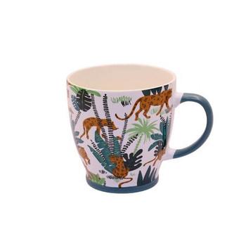 Ceramic Mug - 400ml - Leopards & Ferns