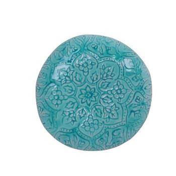 Ceramic Dinner Plate - Sky Blue Mandala Pattern  (27cm)