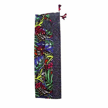 Scarf - Dark Colorful Abstracts with Tassels