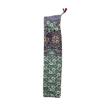 Scarf - Green Flowers & Stained Glass Pattern