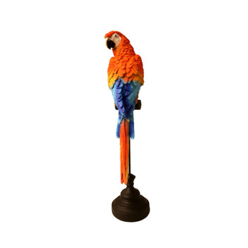 Red Blue Parrot on Perch Looking Back (47cm)
