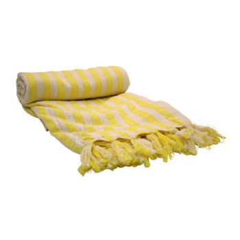 Versatile Handwoven Towel Yellow 100x200cm