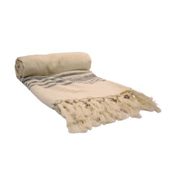 Handwoven Ash Towel 90x190cm