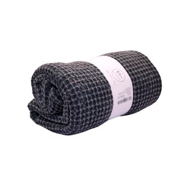 Waffle Weaved Versatile Towels Slate 85x160cm