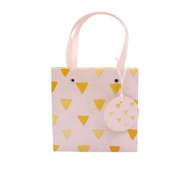 Medium Gift Bag - Yellow Triangles (23x23x20cm)