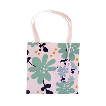 Small Gift Bag - Blue Flowers (16x16x16cm)