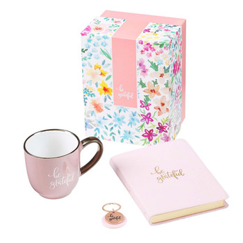 Be Greatful Journal, Mug and Keyring Boxed Gift Set