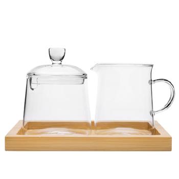 Milk And Sugar Set Glass 250ml Each