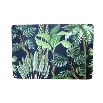 PVC/ Felt Placemat - Set of 6 - Tropical Fern