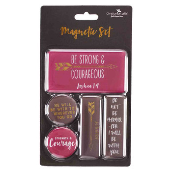 Be Strong and Courageous Magnet Set