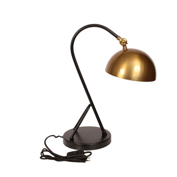 Gold Brushed & Matt Black Desk Lamp (47cm)