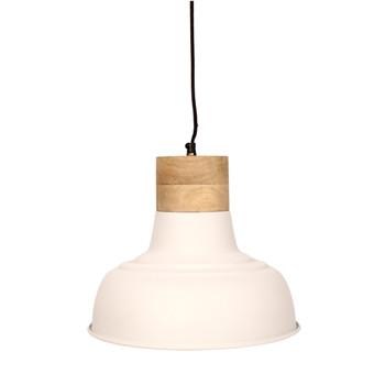 Textured White Light with Mango Wood finish (33cm)