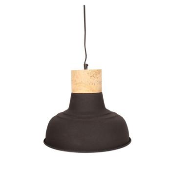Textured Black Light with Mango Wood finish (33cm)
