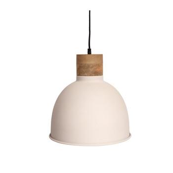 Textured White Light with Mango Wood finish (31cm)