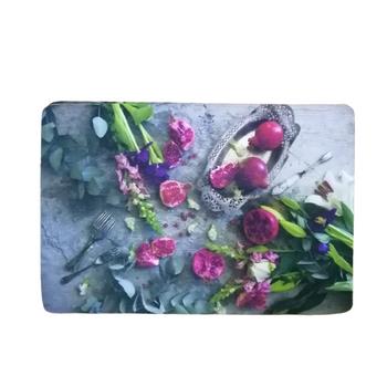 PVC/ Felt Placemat - Set of 6 - Pomegranate & Lillies