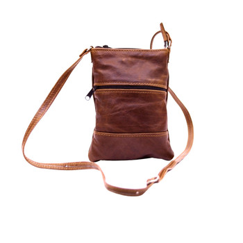 Two Zip Sling bag - Medium (22x14cm)