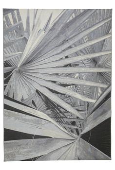 Fan Leaf Rug In Silver