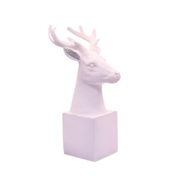White Deer Head on Stand (Small / 19.5cm)