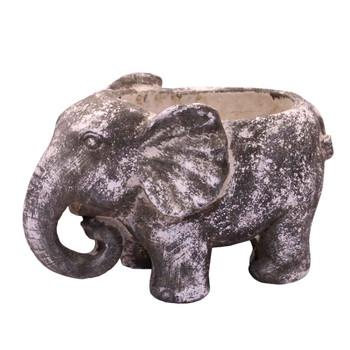 Large Cement Elephant Planter (16.5cm)