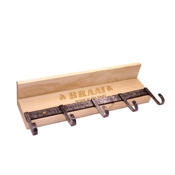 Metal Hooks Shelf (47x19x10cm)