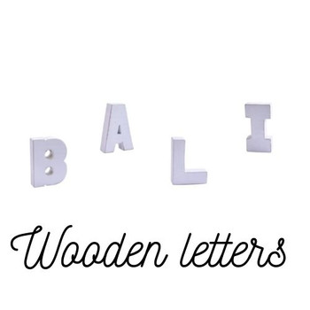 Wooden Alphabet Letter  (13x3.5x15cm)