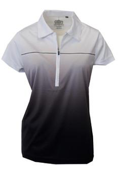 Ladies 1/4 Zip Sublimated Ombre Black