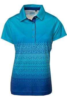 Ladies Ombre Geometric Tribal Cyan Blue