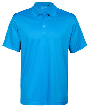 Men's S-Basics Polyester Golfer Malibu Blue