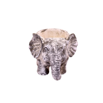 Small Cement Elephant Planter (12.5cm)