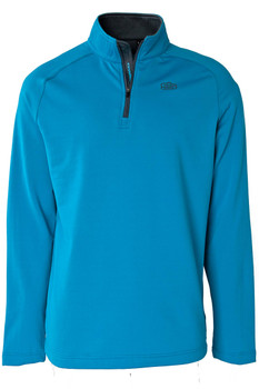 Mens 1/4 Zip Brushed Pullover Baltic Teal